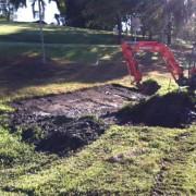 preparing drain at Paradise Country
