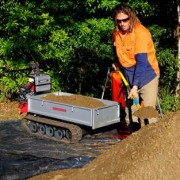 placing soil