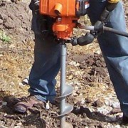 drilling hole for planting