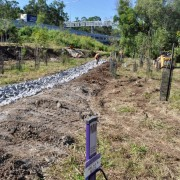 construction phase of rock drains
